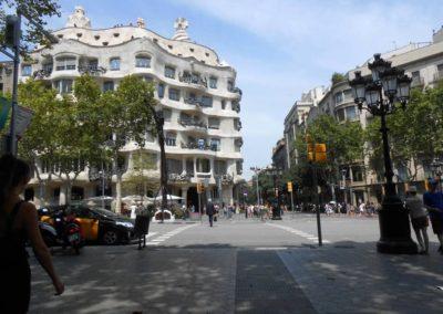 La Casa Mila in Barcelona, Spain